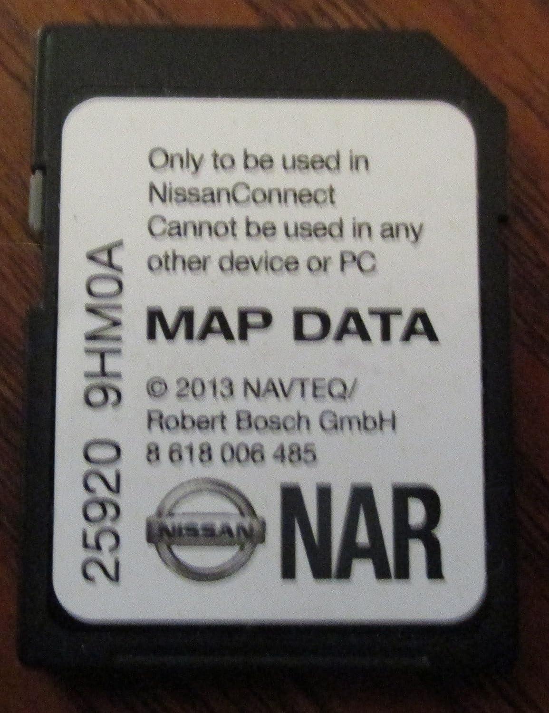 9HM0A NISSAN Connect SD Card, Navigation GPS MAP Data, NAVTEQ, NA/North America US Canada 25920-9HM0A 2014 2015 Rogue SENTRA Altima Sedan Xterra Titan Frontier