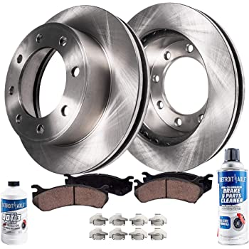 Brake Pads Include Hardware With Two Years Manufacturer Warranty Front Disc Brake Rotors and Ceramic Brake Pads for 2011 GMC Sierra 2500 HD