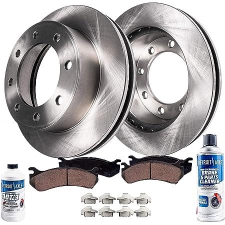 2012 For Ram 2500 Front Disc Brake Rotors and Ceramic Brake Pads