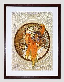 ALPHONSE MUCHA ZODIAC 1896 OLD MASTER BLACK FRAMED ART PRINT PICTURE B12X342