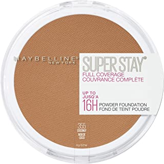 Maybelline New York Super Stay Full Coverage Powder Foundation Makeup Matte Finish, Coconut, 0.18 oz