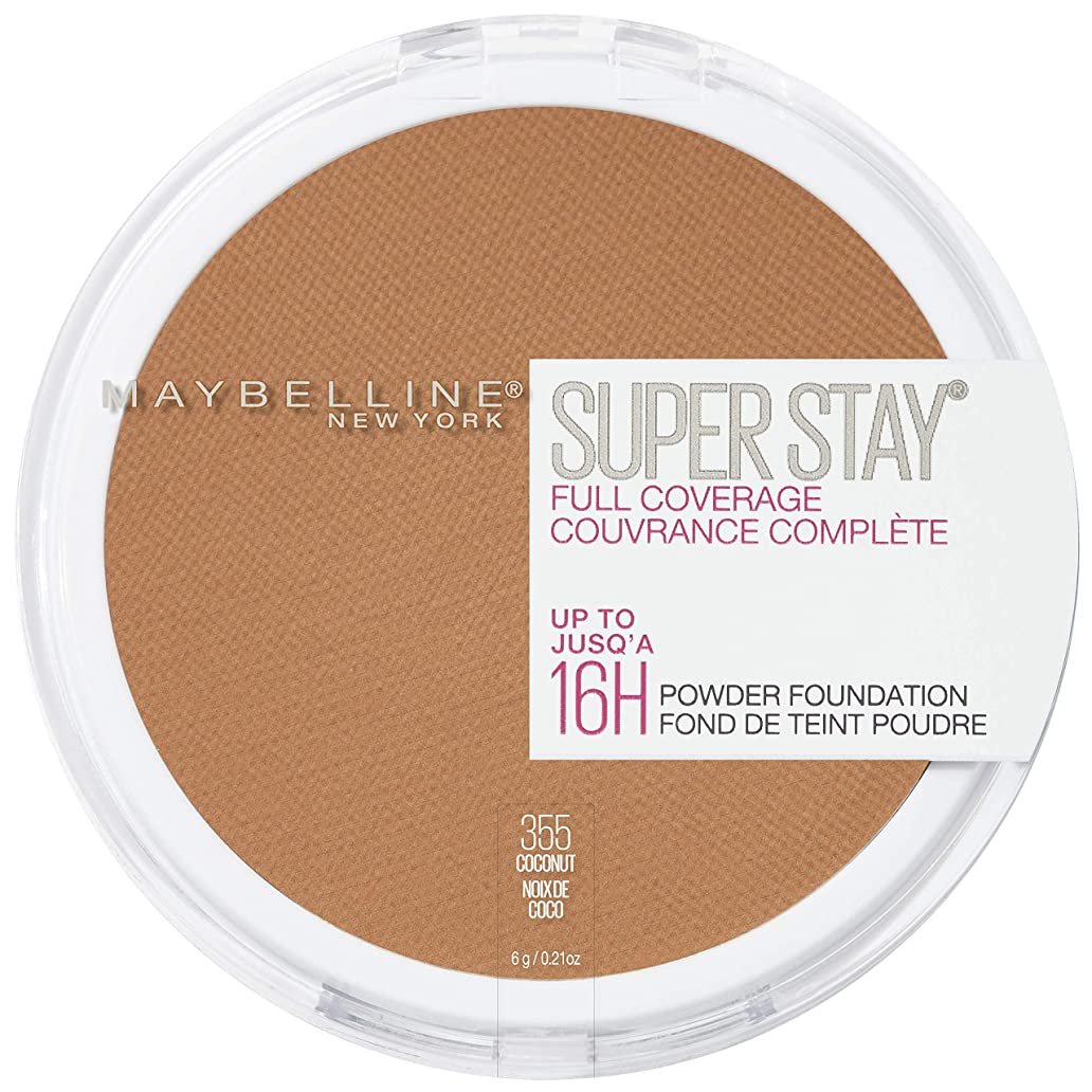 ウミウシ偶然のサスペンドMAYBELLINE Superstay Full Coverage Powder Foundation - Coconut 355 (並行輸入品)