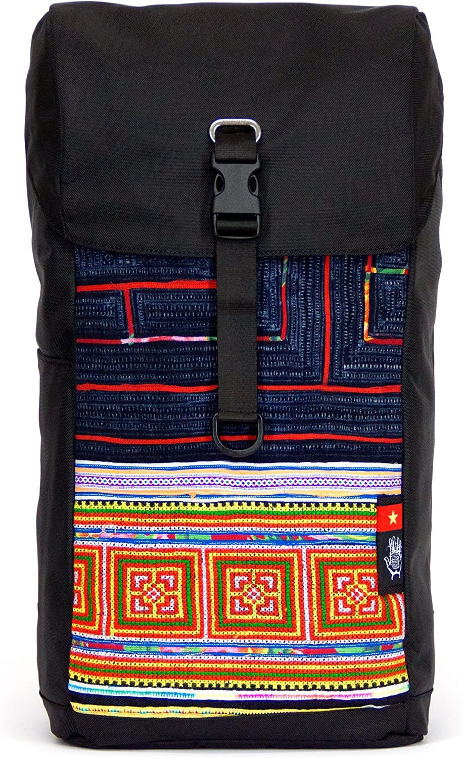 Setia Pack by Ethnotek with outside panel handloomed by traditional craftspeople (Vietnam 6)