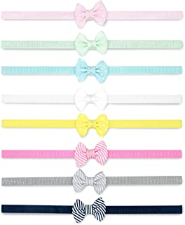 Baby Girls' Printed and Solid Bow Head-wraps for Infants and Toddlers