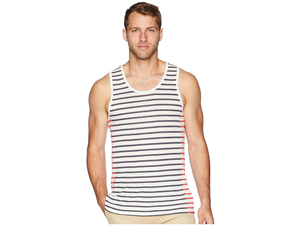 Alternative Eco Jersey Marine Side Panel Tank Top (Midnight Riviera Stripe/Red Riviera Stripe) Men