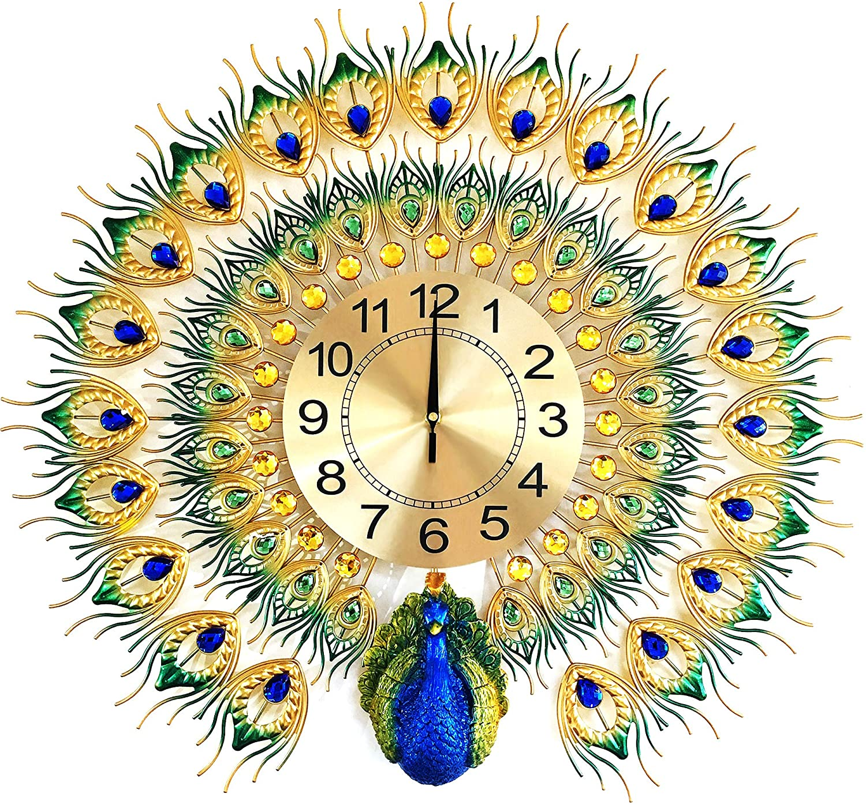 MagicPro sale Financial sales sale Peacock Wall Clock Big Size
