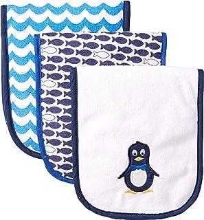 Luvable Friends 3 Piece Burp Cloth with Fiber Filling, Penguin