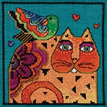 Mill Hill Feathered Friend Beaded Counted Cross Stitch Kit (Linen) 2015 Laurel Burch LB305104