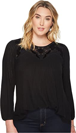 Lucky Brand - Plus Size Yoke Top