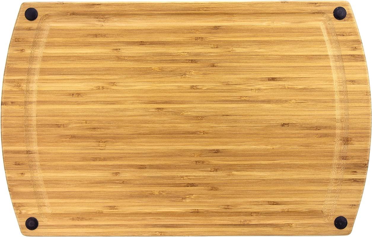 Totally Bamboo GreenLite Dishwasher Safe 19 Bamboo Cutting Board Splash Series