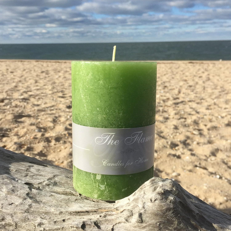 Vela de la vela del pilar de colour verde claro estilo 10 cm