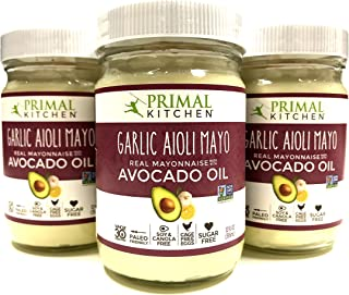 Primal Kitchen - Avocado Oil-Based Mayo, Garlic Aioli, 12 oz, Gluten and Dairy Free, Whole30 and Paleo Approved
