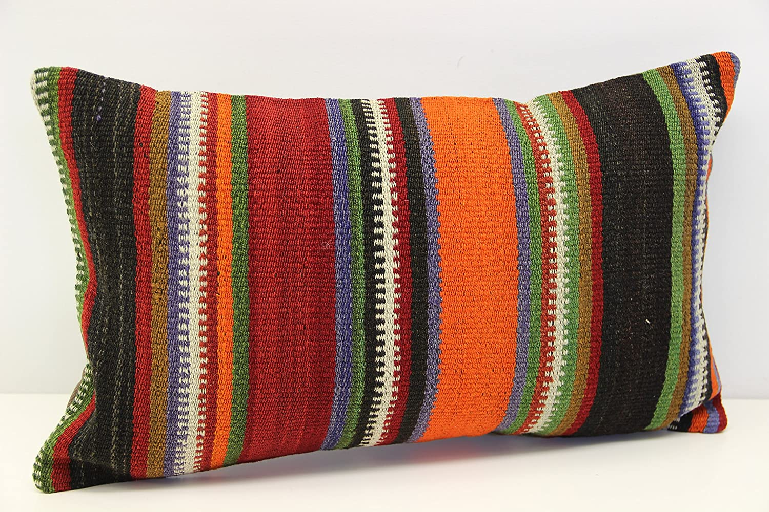 Max 46% OFF Ethnic kilim pillow cover 12x20 Armchair cm Baltimore Mall Pillow 30x50 inch