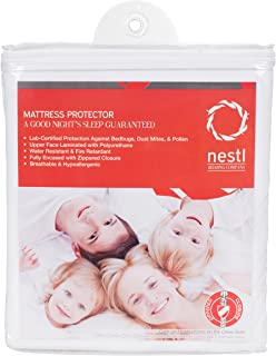 Nestl Bedding Mattress Encasement Mattress Protector for Bed Bugs - Full (Double) Size, Waterproof Secure 6 Sided Zippered Sleep Defense System - Allergy Relief Bed Cover Mattress Protector