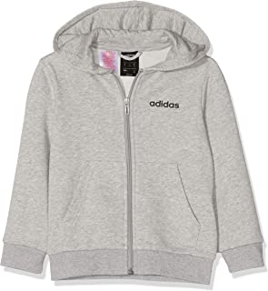adidas Youth Boys Essentials Linear Full Zip Hoodie Track Tops