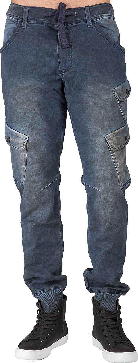 Level 7 Men's Premium Popular popular Knit Denim Tainted Indigo wit Jogger Jeans Spring new work one after another
