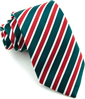 Littlest Prince Couture Evergreen & Ruby Stripe Adult Necktie
