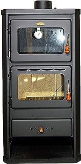 Estufa de leña con horno. Fabricado en acero. Potencia de calentamiento de 12 kw.