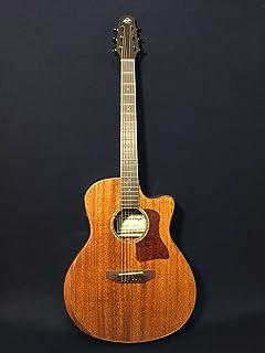 """41"""" Caraya A-2016 AR-SMT Beveled Solid Mahogany Top Acoustic Guitar w/EQ-SD+Bag"""