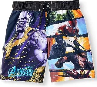 Marvel Comics Avengers Graphic Swim Trunk Shorts Black