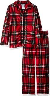 Image of Classic Red Plaid Christmas Pajamas for Girls