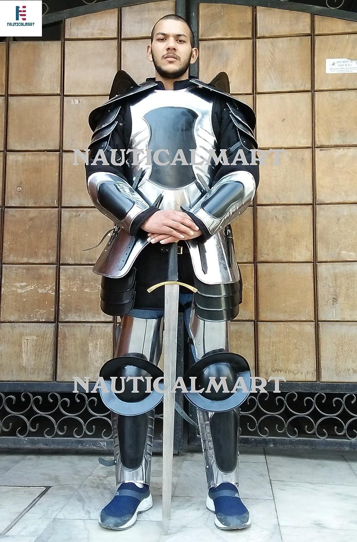 Nautisches Mart Mittelalter Renaissance Conquest warcrafted Hälfte Anzug Armor schwarz schwarz schwarz one Größe Armour – nauticalmart B07B6MNBG7  Mangelware 74c8a3