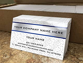 Custom Premium Business Cards 500 pcs Full color - Metal Panel (129 lbs. 350gsm-Thick paper), UV coating-Front, Matt finishing-Back,Made in The USA