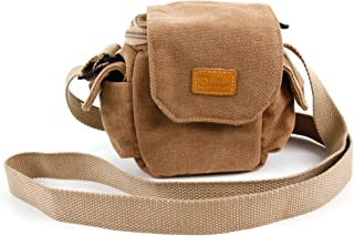 DURAGADGET Light Brown Small Sized Vintage Canvas Carry Bag - Suitable for The Vibe-Tribe Troll
