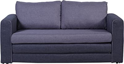 Divano Roma Furniture Modern Sofas, Grey/Dark Grey