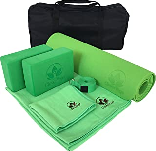 Yoga Set Kit 7-Piece 1 Yoga Mat, Yoga Mat Towel, 2 Yoga Blocks, Yoga Strap, Yoga Hand Towel, Free Carry Case for Exercises...