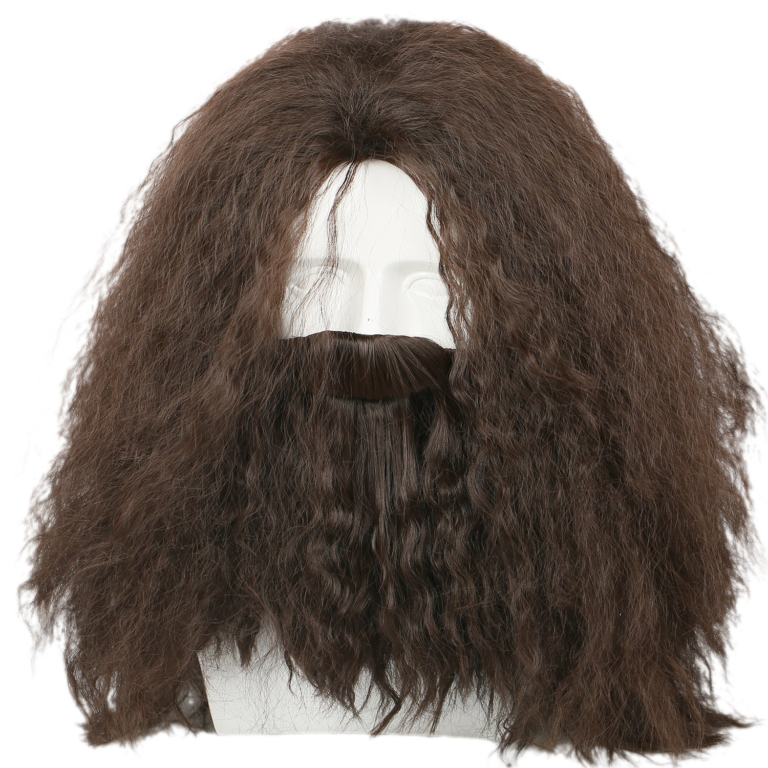 Coslive Hagrid Wig Movie Cosplay Brown Long National products Beard Curly Hair Cos quality assurance
