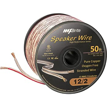 Pyramid RSW1250 12 Gauge 50 Feet Spool of High Quality Speaker Zip Wire