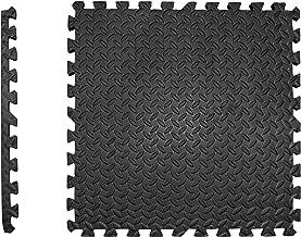 Beschermende matten set extra dik - 2 cm - PREMIUM Fitness Apparaten onderlegmat 4 st. EXTRA LARGE 60x60cm 1,5m² zwarte vl...