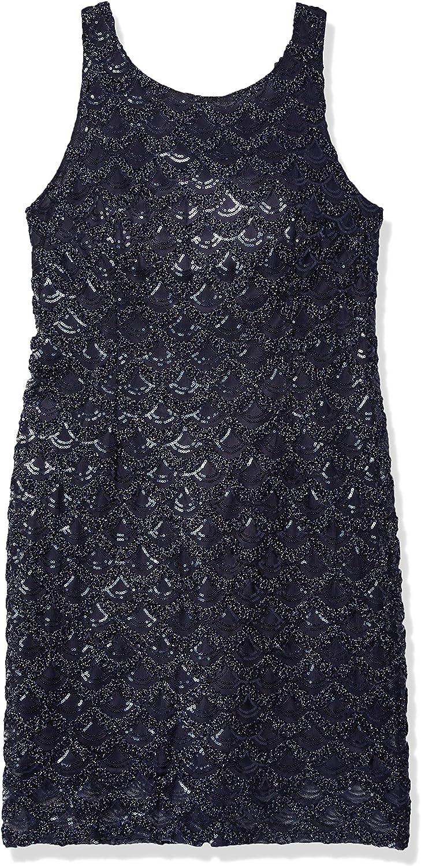 Sandra Darren Women's Sd Collection Sleeveless Sequin Mesh Dress
