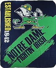 NCAA Collegiate School Logo Fleece Blanket (Notre Dame Fighting Irish)