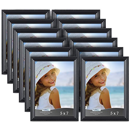 Icona Bay 5x7 Picture Frames 12 Pack Black Black Picture Frame Set
