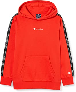 Champion Boys' Seasonal Tape Hooded Sweatshirt Sudadera con Capucha para Niños