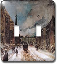 3dRose LSP_180247_2 Scene with Snow 57th Street New York City by Robert Henri Double Toggle Switch