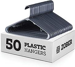 Grey Standard Plastic Hangers (50 Pack) Durable Tubular Shirt Hanger Ideal for Laundry & Everyday Use, Slim & Space Saving...