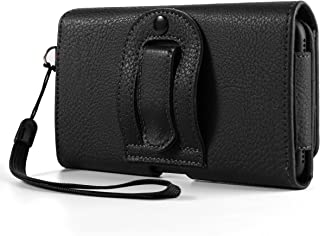 Texture PU Leather Horizontal Belt Clip Holster w/Card Slots Compatible for LG K40S / Stylo 5 / Huawei P30 Pro/Mate 20 / Motorola One Macro Zoom Action / G7 Plus / Z4 / Sony Xperia 5 / XZ3