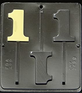 Candy Molds N More Number 1 Lollipop Chocolate Candy Mold, Quantity 1