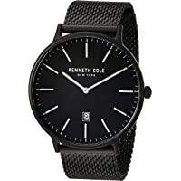 Kenneth Cole New York Men's Black Stainless Steel Mesh Bracelet Watch
