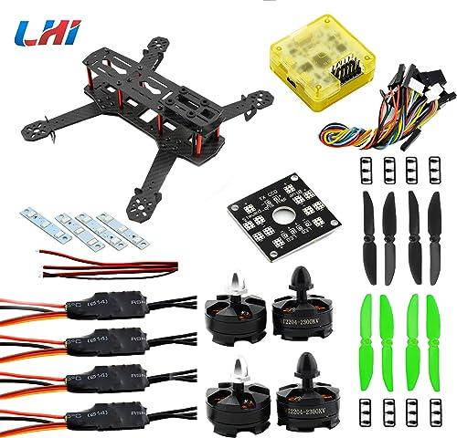 LHI QAV 250mm Quadcopter Frame Racing+ CC3D Flumière Controller + MT2204 2300KV Motor + Simonk 12A ESC + 5030 propeller