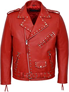 MEN/'s Cherry Cool Retro Stile Biker IMBOTTITO Lambskin NAPA SOFT LEATHER JACKET