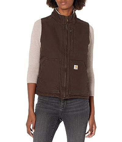 Carhartt OV277 Sherpa Lined Mock Neck Vest (Dark Brown) Women