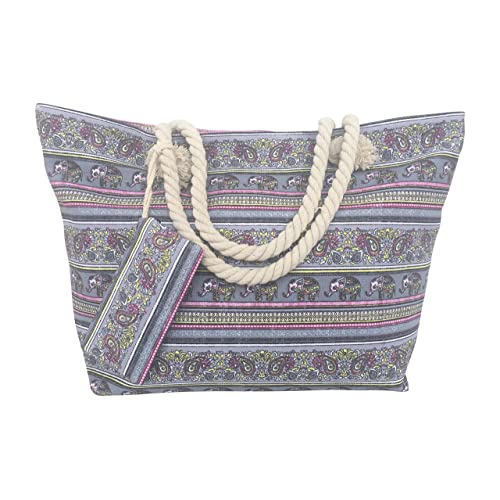 Many Colors Available Elephant Aztec Monogrammed Zipper Tote