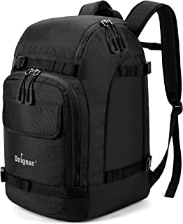 Unigear Ski Boot Bag, 55L Ski Boot Travel Backpack for Ski Helmet, Goggles, Gloves, Skis, Snowboard & Accessories