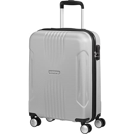 American Tourister Tracklite - Spinner S Bagage Cabine, 55 cm, 34 L, Argent (Silver)