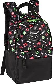 JINX Minecraft Scatter Creeper Kids School Backpack, Black, 16