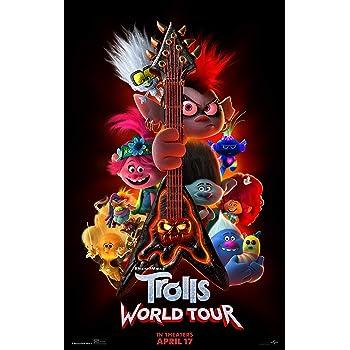 Amazon Com Trolls World Tour Movie Poster Guy Diamond Tiny Trolls 2 Size 24 X 36 Inches Posters Prints